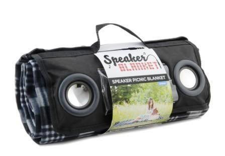 Одеяло с динамиками «Speaker Blanket» в собранном виде