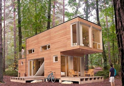 Идеальный дом в лесной глуши из контейнеров